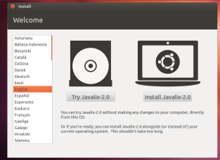 Javalix2.0_installimpression